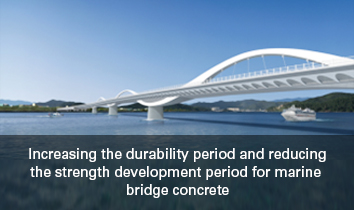 Increasing the durability period and reducing the strength development period for marine bridge concrete