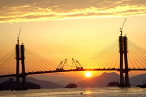 Samcheonpo Bridge(first cable strayed bridge designed with local technology) completed