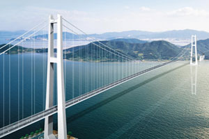 Yi Sun-Sin Bridge (the longest suspension bridge in Korea, ranked 4th in the world with local technology) completed